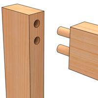 deuvelverbinding voor meubels lijmen