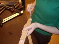 cursis verlijmt hout