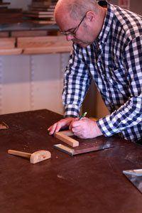 aftekene tijdens de basiscursus houtbewerking