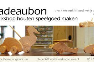 cadeubon workshop houten speelgoed maken