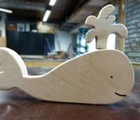 houten speelgoed dolfijn