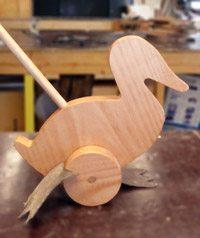 houten speelgoed eend